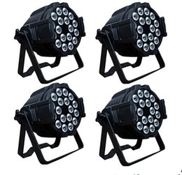 Wholesale Rgbwa Led Par - x12 led stage light 18pcs *18w rgbwa+uv 6in1 led INdoor light DMX512 stage lamp led par bulbs can light for Wedding Dance Halls Disco