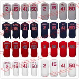 Wholesale Boston Sales - Boston Hot Stitched Baseball Jerseys White Home Gray Road Navy #2 Xander Bogaerts 15 Dustin Pedroia 41 Chris Sale 50 Mookie Betts