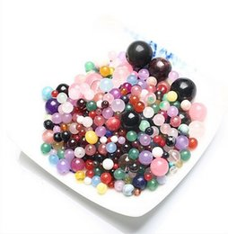 Wholesale Natural Crystal Diy - cheapest ! 80g lot Free Shipping natural crystal loose space beads different sizes for DIY charms jewelry making