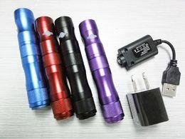 Canada X6 VV Batterie 1300mAh Tension Variable e cig Batterie pour ego CE4 / CE5 / CE6 / protank atomiseur Cigarette électronique coloré livraison gratuite Offre
