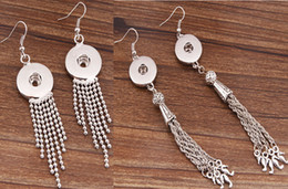 Wholesale Chandelier Decorations Christmas - 2015 NOOSA Ginger Snaps Earring Trend Jewelry Interchangeable DIY Hooks Earring with Beads Fringes Chains Decoration 2 styles for Choices
