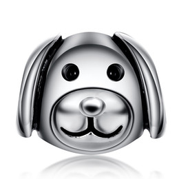 Argentina ¡Nuevo! 925 plata esterlina encanto animal lindo perro de dibujos animados encantos europeos de plata para la cadena de la serpiente pulsera DIY joyería de moda Suministro