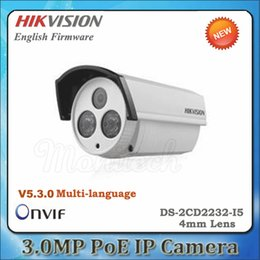 Wholesale Hd Ds - Multi-language DS-2CD2232-I5 4mm Bullet IP Camera 3MP 1080P IR 50m Outdoor IP66 Full HD POE Network CCTV Camera Security Camera