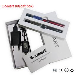 Wholesale E Smart Clearomizer - E-Smart Starter Kits Lady E cigarette Kit Double e smart kits Top Heating esmart clearomizer vaporizer vape pen kit vs evod mt3 ego ce4 kits