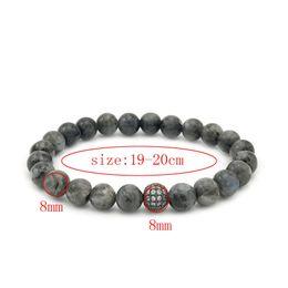Wholesale Flash For Beads - Hot Sale Gold Bracelets For Men Natural Black Flash Stone Retro Pulseiras Mens 8MM Round Bead Bracelets Free shipping