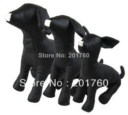 Wholesale Set Dog Toys - Mannequins Pet supplies PU leather dog model props toy S,M,L 3pcs set free shipping