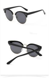 Wholesale Pink Wayfarer Sunglasses - 2015 Brand designer Round Sunglasses Women Oculos UV400 Points sun glasses fashion Female eyewear Women's shades outdoor sports