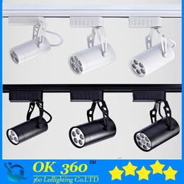 Wholesale Track Led Ceiling Lighting - 6W 10W 14W 18W 24W 36W Led Track Lights 30 Angle Warm Natural Cool White Led Ceiling Spot Lights AC 85-265V +CE ROHS UL Black White