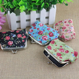 Wholesale Dropship Lady Bags - Wholesale- New Qualified Storage Women Lady Retro Vintage Flower Small Coin Hasp Purse Clutch Bag Levert Dropship dig6413