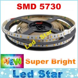 Wholesale Smd Led Wholesalers - 100m smd 5730 Led Strips Light 12V Waterproof Non-waterproof 60LED m 5m Roll 40lm smd 5730 Bright Than 5630 5050 DHL Free Shipping