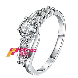 Wholesale Cute Beautiful Ring - Women's beautiful Natural Crystal 925 solid sterling silver Ring Cute Elegant Women's Wedding Rings High Quality