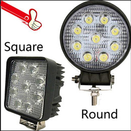"Wholesale Round Off Road Lights - Cree LED Work Light Bar 27W Lamp .4"" inch for Motorcycle Tractor Boat Off Road Truck SUV JEEP Spot Flood 12V 24V LED Floodlight Light"