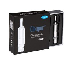 Wholesale M3 Clearomizer - Cloupor Cloutank M3 Clearomizer Pyrex Glass Clear 2 in 1 Dry Herb Vaporizer Atomizer Wax Cartomizer for E Cig kit herbal vapor AT065