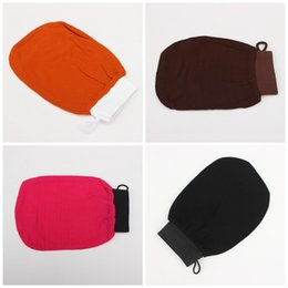 Wholesale Gloves For Sale - Bath Gloves Magic Exfoliating Body Massage Scrub Mitts Bathing Articles Black For Hot Sale 3 5mt C R