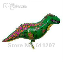 Wholesale Dinosaurs Pets - 50pcs lots dinosaur walking pet balloons animal balloons myalr balloon 90*33cm