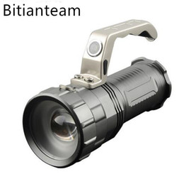 Wholesale Portable Search - Powerful LED Flashlight CREE XM-L T6 5000LM 3 Modes Torch Search Camping Hunting Fishing Miner's Lamp Lantern Light
