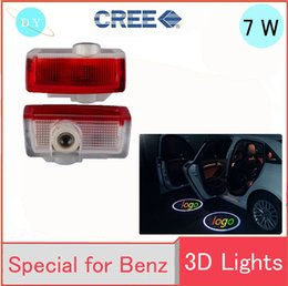 Wholesale Mercedes W212 - LED car Door Courtesy Ghost Shadow Logo Lights For Mercedes Benz E B C ML Class w212 w166 w176