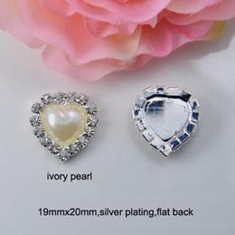 Canada Vente en gros (J0075) embellissement de cristal de perle de coeur de 19mmx20mm, dos plat, ivoire ou perle blanche pure cheap heart embellishments Offre