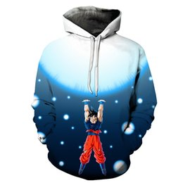Wholesale Dragon Ball Sweater - Europe and The United States 3d Dragon Ball Printing Hoodie Loose Hooded Sweater Plus Size Couple Dragon Ball Z Anime Goku Streetwear Style