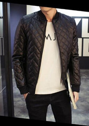Wholesale Designer Motorcycle Jackets Men - Fall-5XL Casual Motorcycle Mens Faux Leather Jacket Brown Outfits Trendy Luxury Brand Designer Jaqueta De Couro Masculina