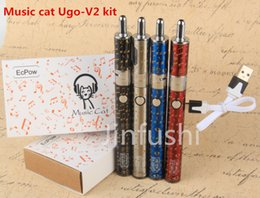Wholesale Ego T2 V2 - electronic cigarettes ego vapor kit e cigs Music cat ugo-V2 kit best cool ugo-T2 vape mods kits kit