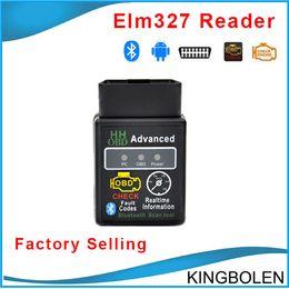 Wholesale Gms Wholesale - Newly HH OBD Mini Elm327 Bluetooth OBD OBD II diagnostic interface elm 327 Bluetooth auto diagnostic tool DHL Free Shipping