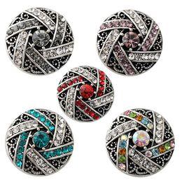 Wholesale Diy European Bracelets - D02183 Free Shipping Fashion 18mm Snap Buttons DIY snap button noosa chunks leather bracelet Fit DIY Noosa button Bracelet Jewelry