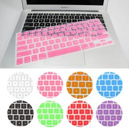2019 macbook pro letras 10pcs Funda de teclado de silicona Protector de piel para Apple Macbook Air Pro MAC 13 pulgadas / 15 pulgadas