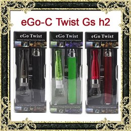 Wholesale Ego C Twist Cig Kit - EGo-C Twist Gs h2 ecigarette e Cigarette blister kit ecig eGo Twist Gs-H2 cigarettes cig Electronic Cigarette starter Kit with usb charger