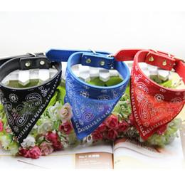 Wholesale Mixed Winter Scarves - 100pcs New Style Adjustable Pet Dog Cat Bandana Scarf Collar Neckerchief Brand New Mix Colors 45*2CM dog collars