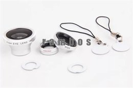Wholesale Magnetic Wide Angle Macro Lens - Wholesale-Lente Para Celular 4 In 1 Magnetic Wide Angle Macro Fisheye 2X Telephoto Mobile Phone Lens Kit for iPhone 4 5 6 6 Plus