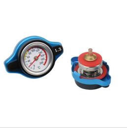 Tischteile online-Wassertank Abdeckung Auto Modifikation Teile D1 Edelstahl Wassertank Deckel mit einer Tabelle kann Temperatur Sicherheit Wassertank Abdeckung gemessen werden