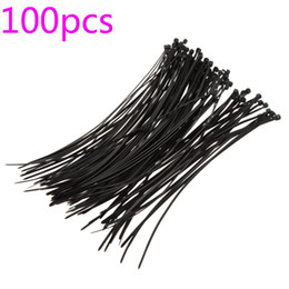 Wholesale Wholesale Nylon Zip Ties - Hot Sale Hot Sale! 100Pcs 20cm Plastic Nylon Cable Ties Zip Wire Wrap Fasten Strap Self-locking Fire-resistant Black 1Lot free s