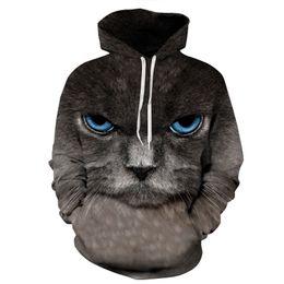 Wholesale Hoodies Monkey - Wholesale- 2017 Men Hoodies Sweatshirts Funny 3D Cat Monkey Fashion Brand Plus Size 3XL Hoodie Mens Streetwear Unisex Pullovers Sportwear