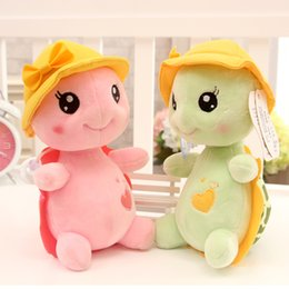 Wholesale Plush Couple Doll - Wholesale- Children Plush Lovely Smile Tortoise Animals Creative Appease Doll Kids Couple Birthday Gifts Newborn Baby Early Learning Toys