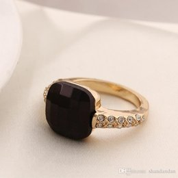 Wholesale Hand Ring Set - Black rare earth crystal set auger female personality ring. Restore ancient ways jewelry. First hand. Factory direct sale, free shipping