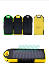 Wholesale Mobie Phones - Solar Power Bank Dual USB Saving Solar Energy Battery Chargers High Quality Capacity 5000mAh Outdoor Convenient For Mobie Phone