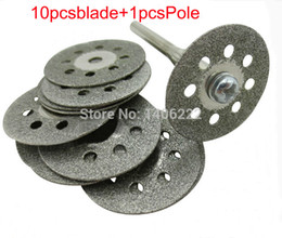 Wholesale Diamond Grinding Cutting Discs - Grinding accessories Diamond cutting disc blade Perforated jade glass cutting piece of 22mm order<$18no track
