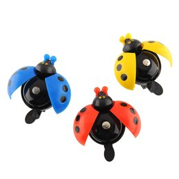 Wholesale Metal Ladybug - Wholesale-Bicycle Road Bike Cycling MTB Handle bar Handlebar Ladybug Ladybird Metal Alarm Ring Sound Bell Horn Safety Useful Hot Sale