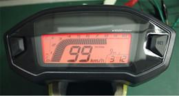 Wholesale Digital Speedometer For Atv - 7 Colors Universal ATV Motorcycle LCD Digital Speedometer Odometer Tachometer for 1,2,4 Cylinders KMH Gauge Backlight Odometer