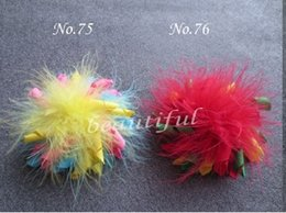 "Wholesale Feather Clips - Feather Corker Free Shipping Girl Boutique 20pc Set 3 .5 ""Grosgrain Ribbon Korker Hair Bow Clips -One Size"