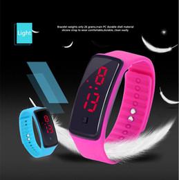 Wholesale Digital Watch Girl Women - 30% LED Watch Plastic Rubber Fashion Boys Girls Men Women Sprots Watches Digital Watch For Christmas Gift