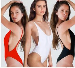 Wholesale Wholesale White Bikinis - Sexy One piece bikini Women's Push-up Padded Halter Monokini One Piece Bikini Swimsuit Beachwear Swimwear DHL FREE