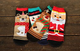 Wholesale Ladies Christmas Ankle Socks - New Arrival Women Socks Fashion Lady Cartoon cotton lovely 3D Christmas printed Casual sock for woman CW86
