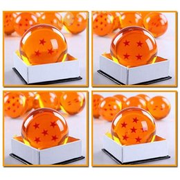 Wholesale Dragonball 7cm - 7CM In Diameter Dragon Ball Z New In Box DragonBall PVC 7 Stars Crystal Balls With Retail Box Animation Free DHL In Stock Factory Price