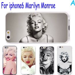 Wholesale Marilyn Monroe Iphone - For Iphone6 cases -Retro Stylish Marilyn Monroe Style Print For IPhone 6 6S plus 4.7 5.5 inch