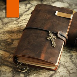 Wholesale Leather Notebooks For Men - Dark brown Leather Journal Midori Traveler's Notebook journals for men Leather Notebook Rustic leather diary