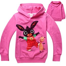 Wholesale Free Pc For Children - Free shipping wholesale spring and autumn Bing Bunny cotton clothing for children boys and girls hoodies sweater 6 pcs