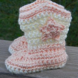 Wholesale Ccm Wholesale - 2015 2015 High Pentagram Baby Shoes retail,Crochet toddler shoe 9 10 11 ccm, hot snow boots 0-12M cotton