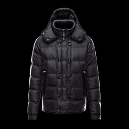 Wholesale Double Hood Jacket - Winter jacket High quality White duck down Winter jackets mens parka Double breasted Detachable Hood Black down coat